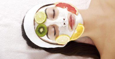 mascarillas faciales frutas